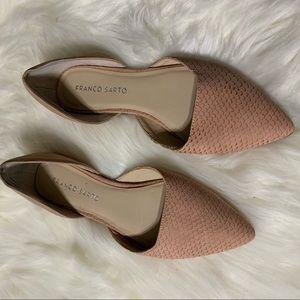 Pink blush Franco Sarto snakeskin flats size 6.5